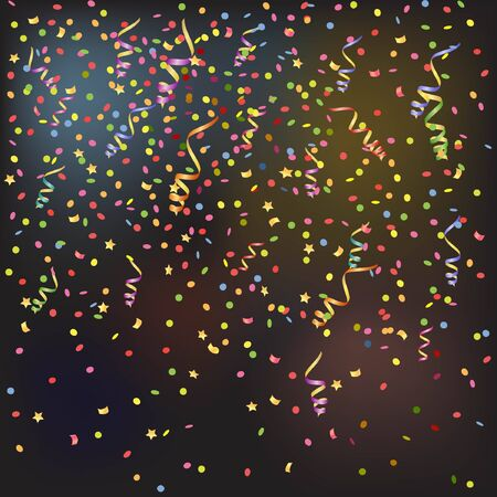 streamer: background with streamer and confetti