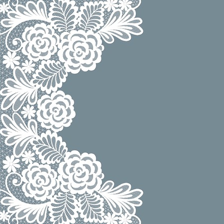 lace: Template frame  design for card. Vintage Lace Doily