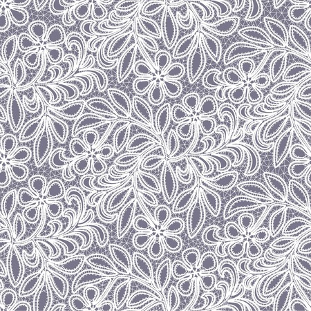 embroidery designs: seamless lace floral background Illustration