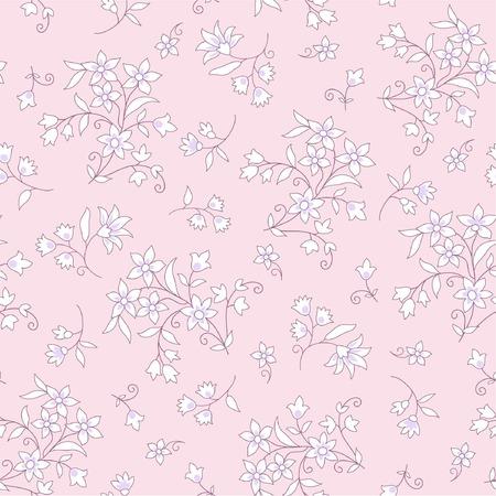 seamless floral: seamless pink floral background Illustration