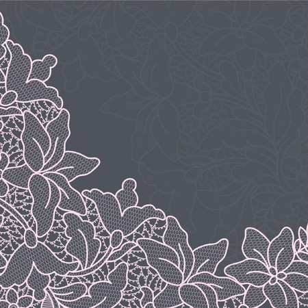 lace doily: Template frame design for card. Vintage Lace Doily