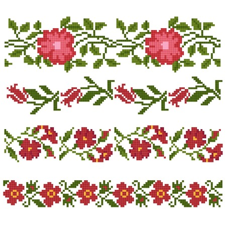 lappet: floral decorative elements