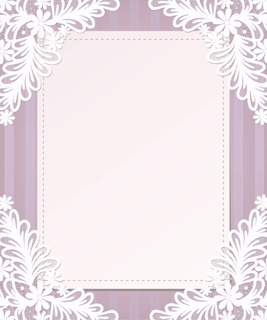 vintage lace: Template frame  design for card. Vintage Lace Doily