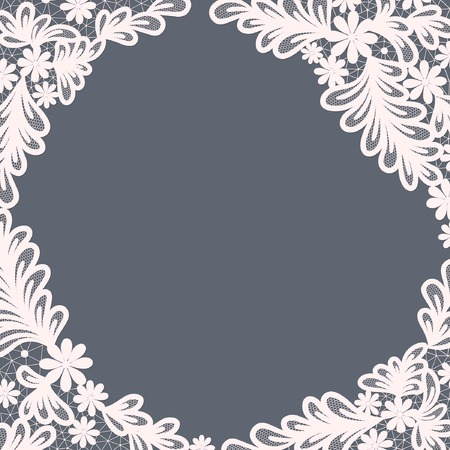 doily: Template frame  design for card. Vintage Lace Doily