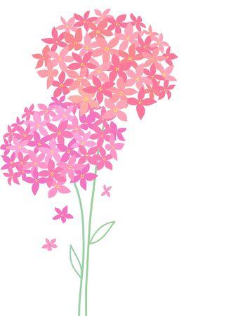 dabs: floral card Illustration
