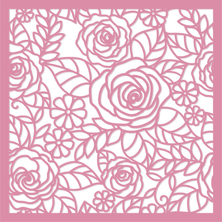 dab: seamless  floral   background with roses Illustration
