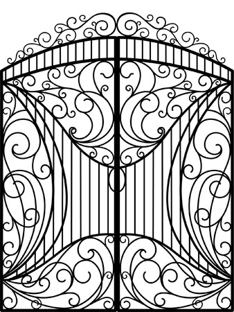 cast iron: Wrought Iron Gate, Door, Fence