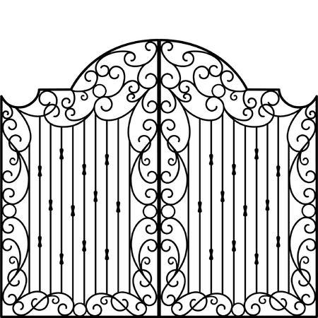 Schmiedeeisen Tor, Tür, Zaun