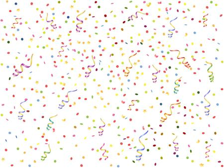 background with  streamer and confetti