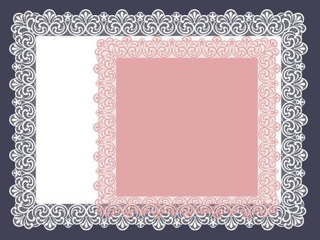 square lace doily Ilustração