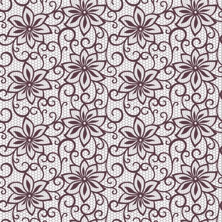 seamless lace floral background Ilustração