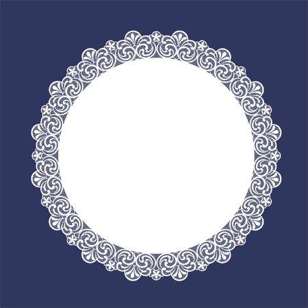 Round Lace Doily Ilustração