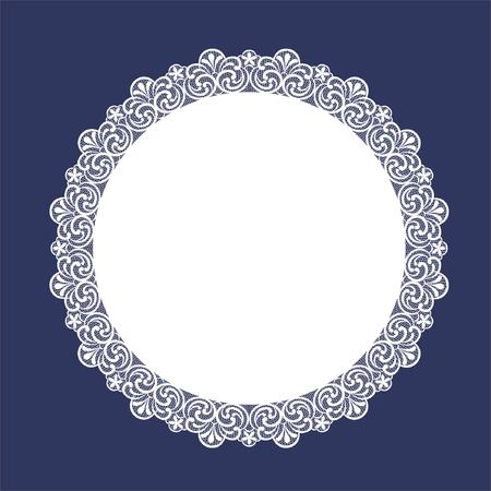 Round Lace Doily Illustration