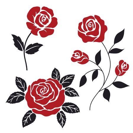 erd and black stylization roses Vektoros illusztráció
