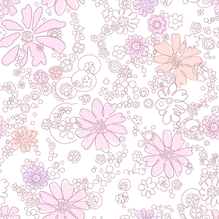 seamless abstract  floral background