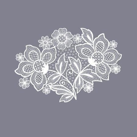 lace flowers decoration element Ilustração