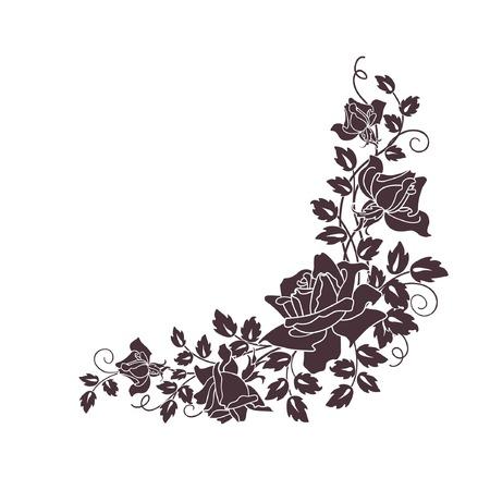 black roses on white