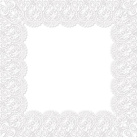 Template frame design for lace card Ilustração