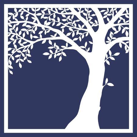 card design with tree Ilustração