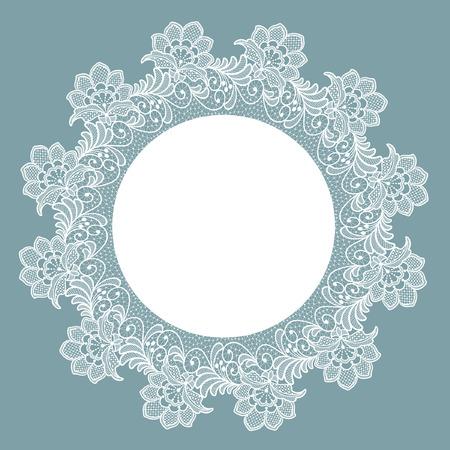 Template frame  design for card. Lace floral frame.