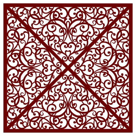greeting card, cut pattern