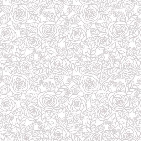 seamless  floral   background with roses Ilustração
