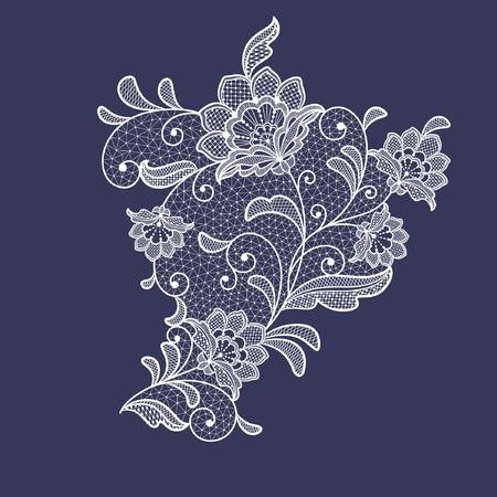 elemento de decoración de flores de encaje