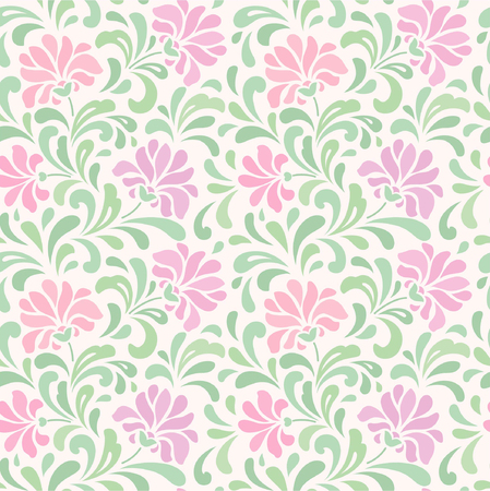 seamless abstract pink floral background