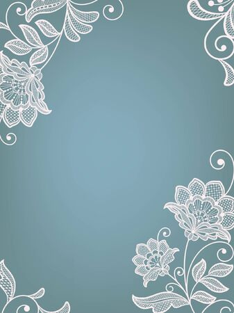 Template frame  design for card. Vintage Lace Doily Stock Vector - 132121140