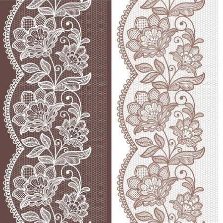 seamless  lace  floral   background. Vintage Lace Doily  Ilustração
