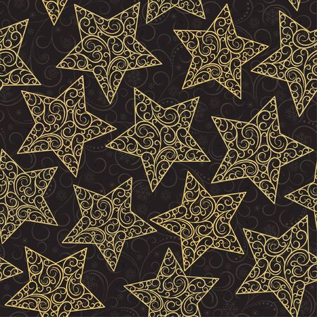 semless background with gold stars