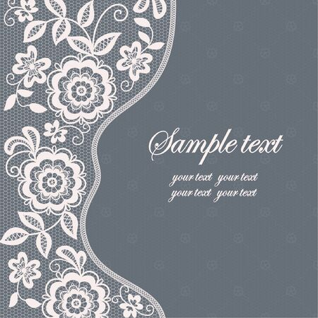 Template frame  design for card. Vintage Lace Doily Stock Vector - 132120610