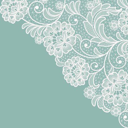 Template frame design for card. Vintage Lace Doily Vecteurs