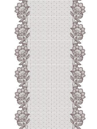 Seamless  lace  floral on white