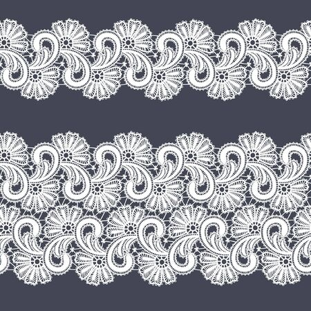 Seamless  abstract lace floral