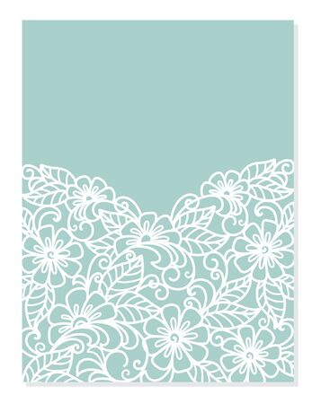 Wedding invitation or greeting card with floral ornament ( laser cute ) Imagens - 149165296