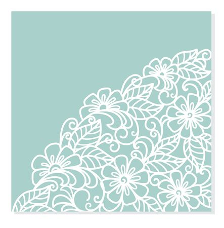 Wedding invitation or greeting card with floral ornament ( laser cute )