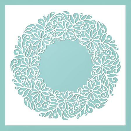 floral card (laser cute)