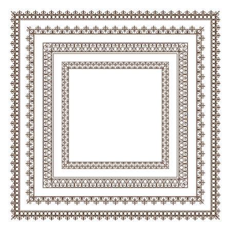 set of frames Ilustração