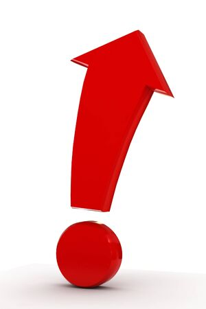 the conceptual exclamation mark - arrow Stock Photo - 9985751