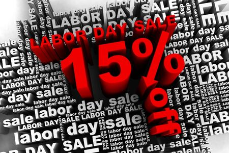 end of the day: conceptual banner for the labor day sale