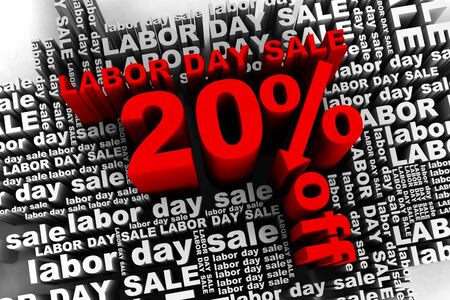 conceptual banner for the labor day sale Stock Photo - 10042353