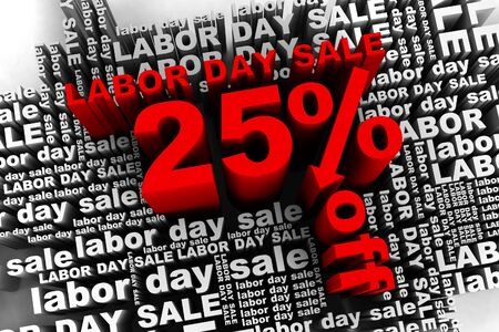 conceptual banner for the labor day sale photo