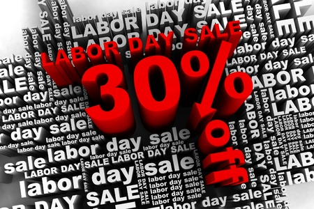 conceptual banner for the labor day sale Stock Photo - 10042348