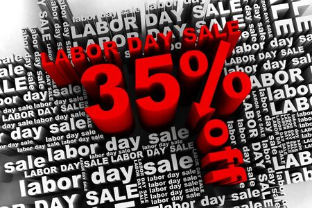 conceptual banner for the labor day sale Stock Photo - 10042345
