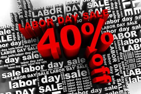 conceptual banner for the labor day sale Stock Photo - 10042356