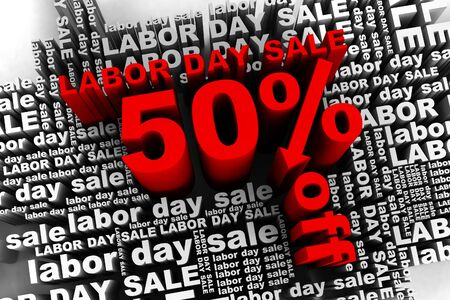 conceptual banner for the labor day sale Stock Photo - 10042349