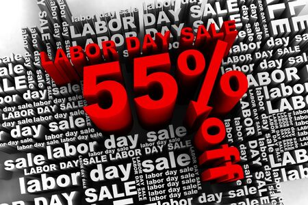 conceptual banner for the labor day sale Stock Photo - 10042350