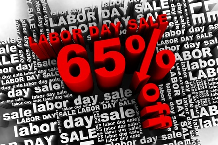 conceptual banner for the labor day sale Stock Photo - 10042352