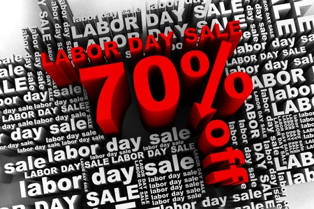 conceptual banner for the labor day sale Stock Photo - 10042346